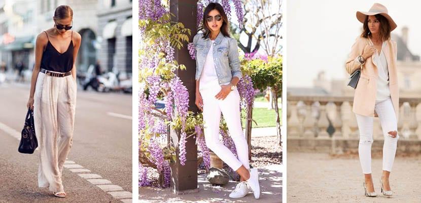 Pantalón blanco streetstyle