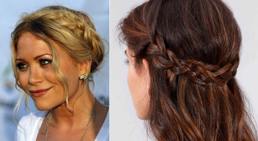 Peinado del Festival de Coachella: La corona trenzada