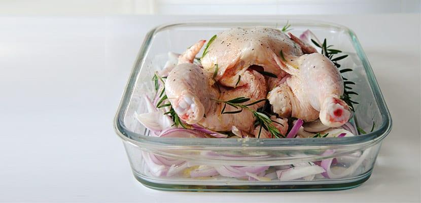 Pollo asado al romero y miel