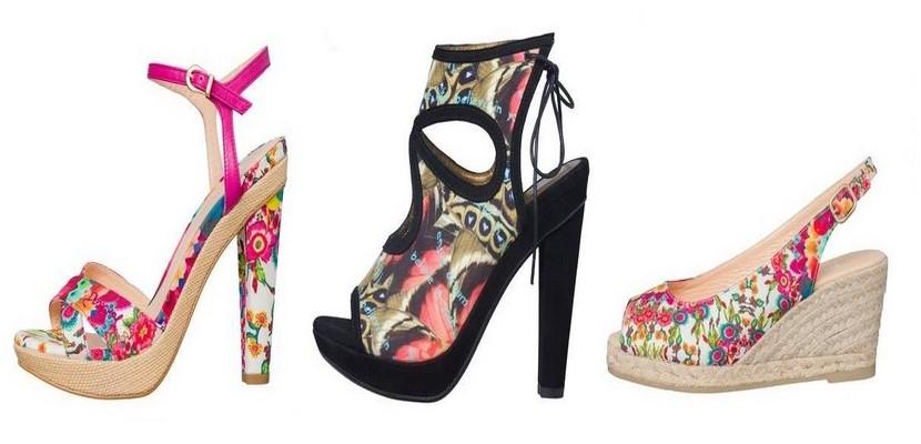 Sandalias en colores