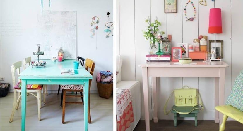 Mesas pintadas con Chalk paint