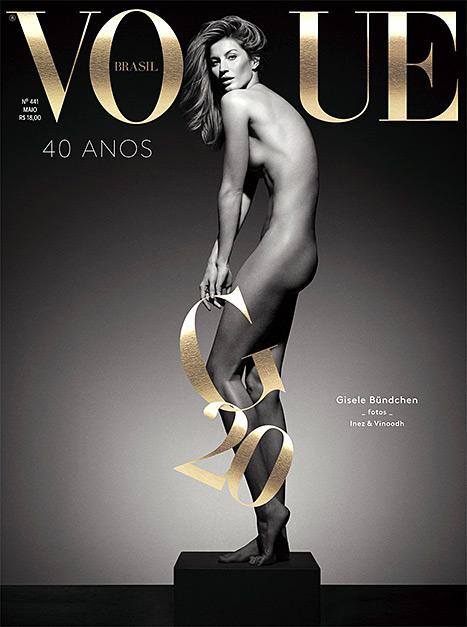Gisele Bündchen posa desnuda para la portada de Vogue Brasil