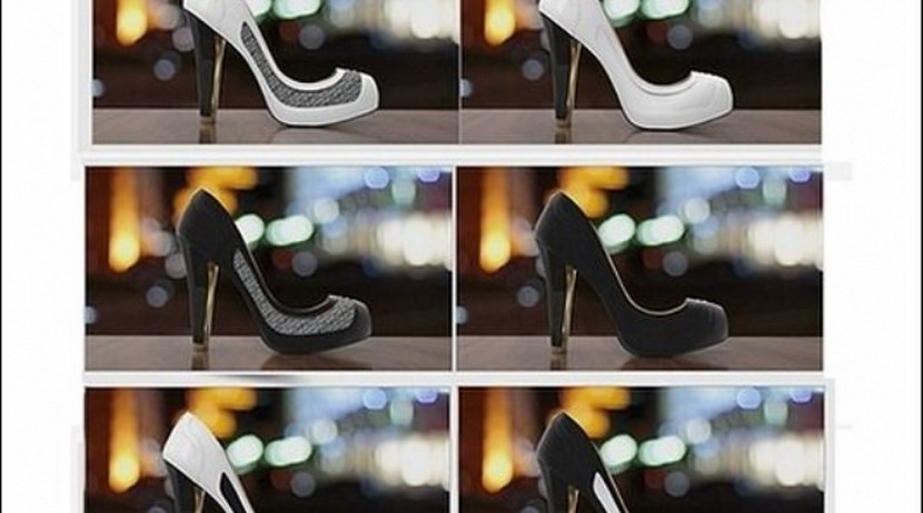 Zapatos que cambian de color