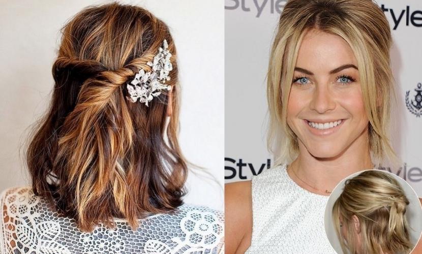Peinados sencillos para cabello corto for Imagenes semirecogidos