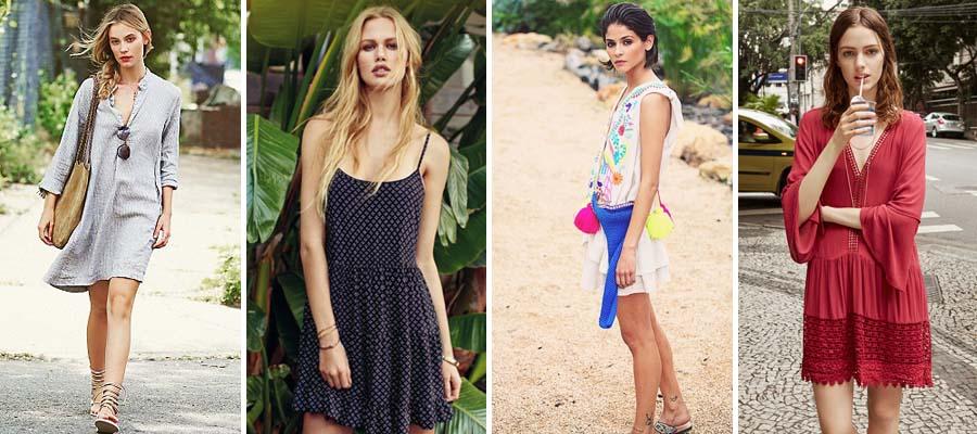 vestidos cortos para la playa