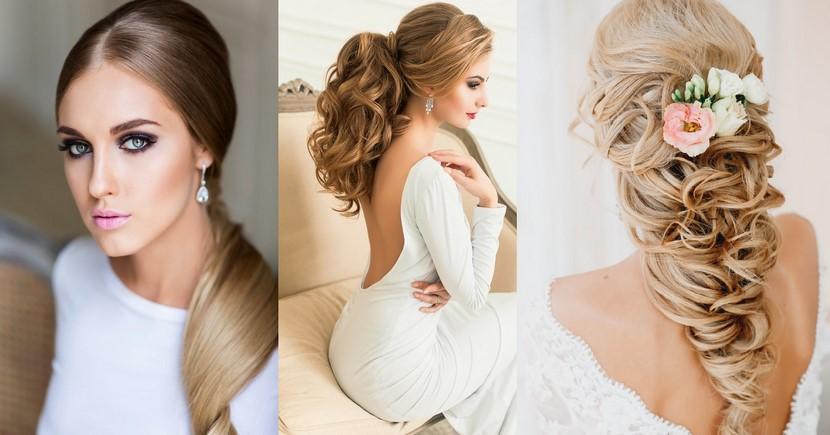 Peinado coleta para novia
