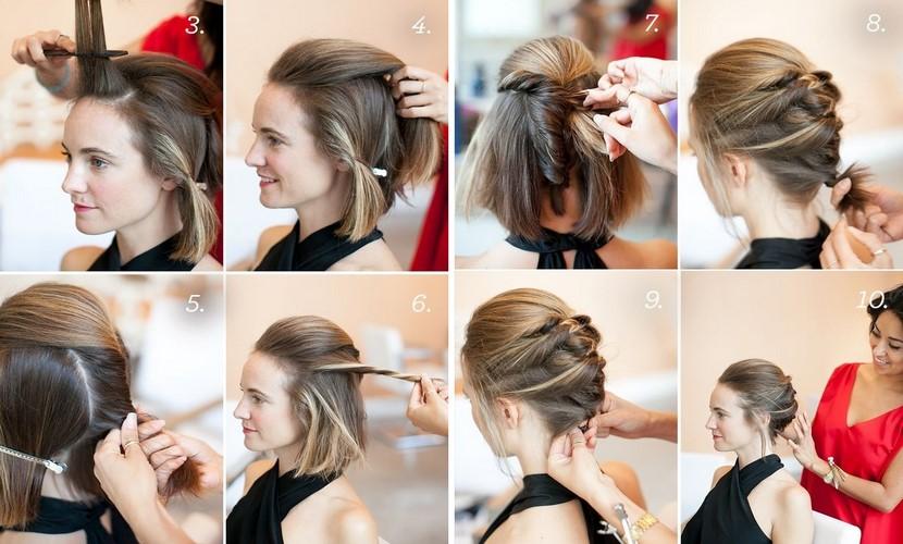 Peinado elegante para cabello corto