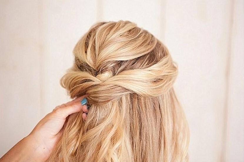 Peinado semi-recogido