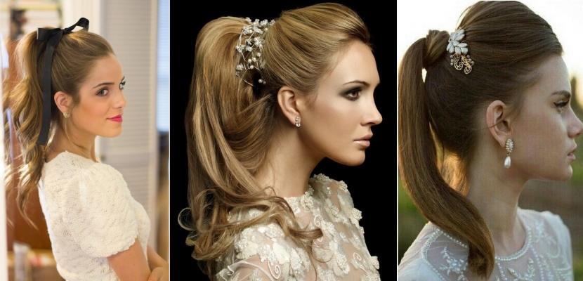 Peinados de novia con coleta alta