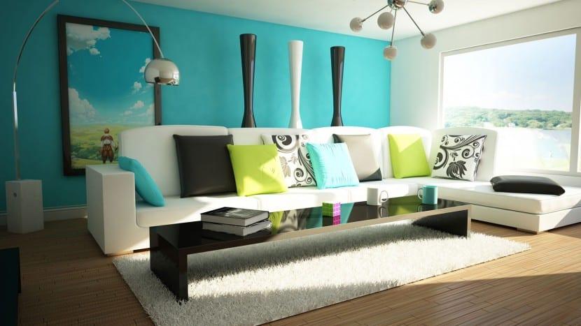 Ideas De Pintura Creativa Para El Salon - Pintura-paredes-salon