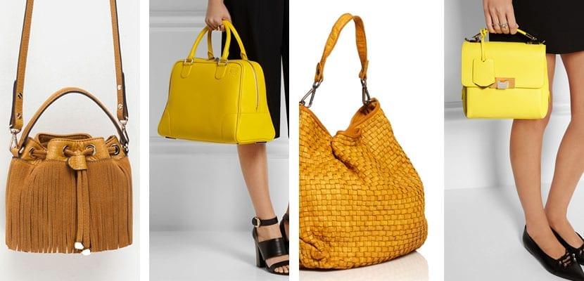 Bolsos amarillos y mostaza