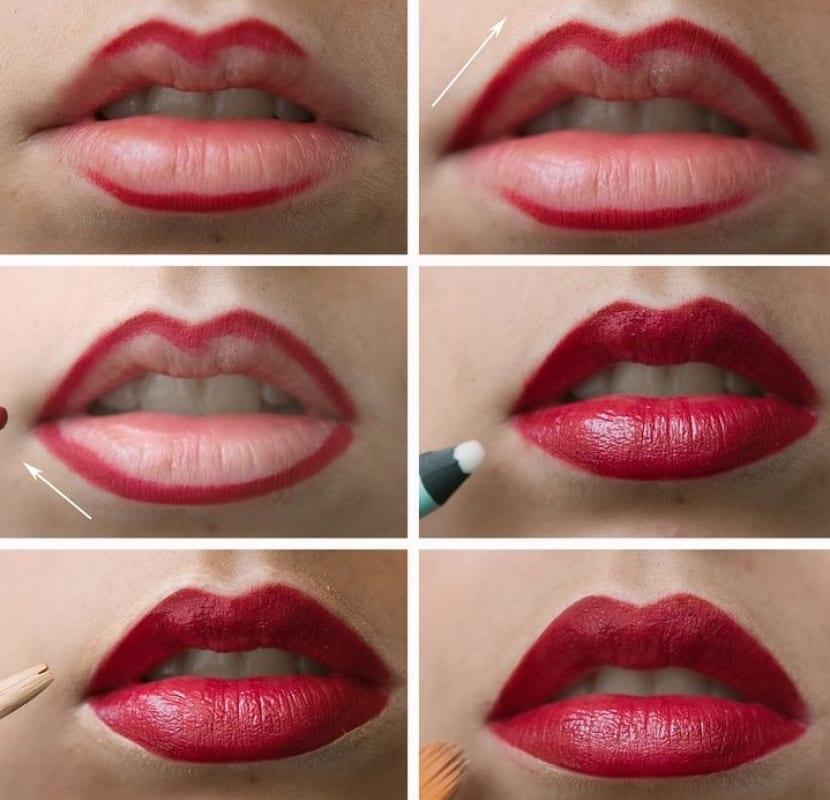 Cómo pintarnos los labios