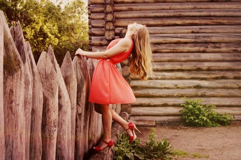 Zapatos de tacón en color rojo