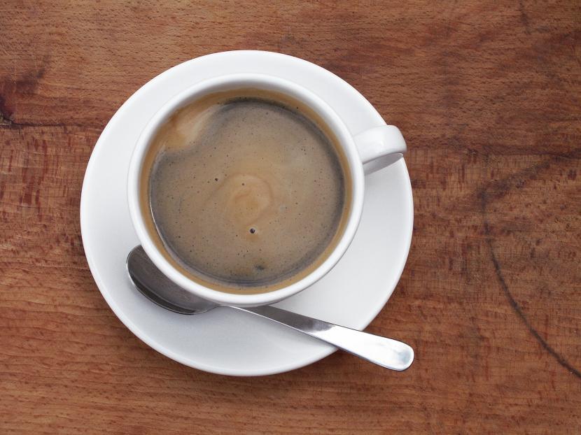 Café con leche de almendras