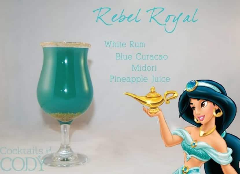 Bebida inspirada en la princesa Jasmine