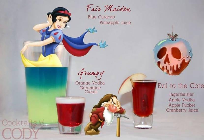 Bebida Blancanieves y los siete enanitos