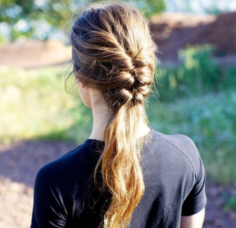 Triple cola de cabello