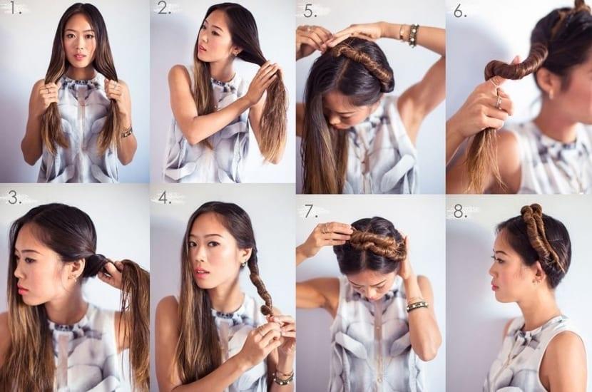 Enrollados para conseguir ondas en el cabello