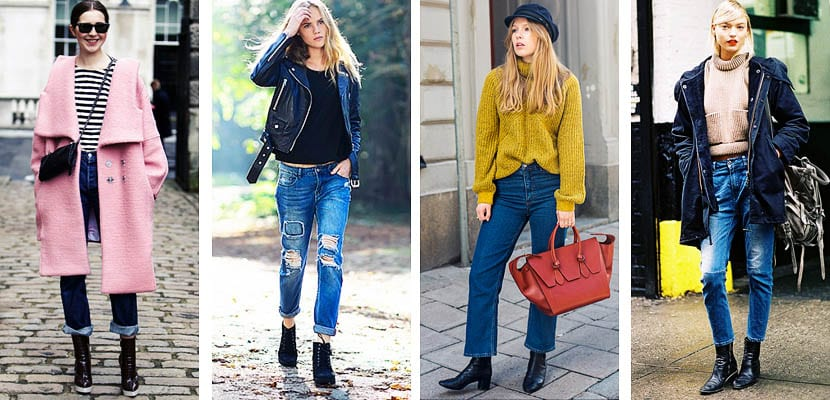 Cropped jeans con botines