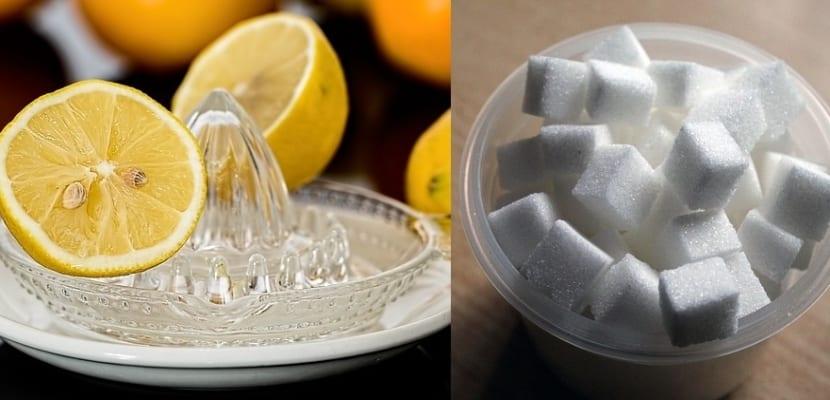 Zumo de limón con azúcar