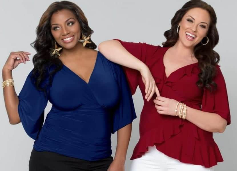 Blusas en color plus size
