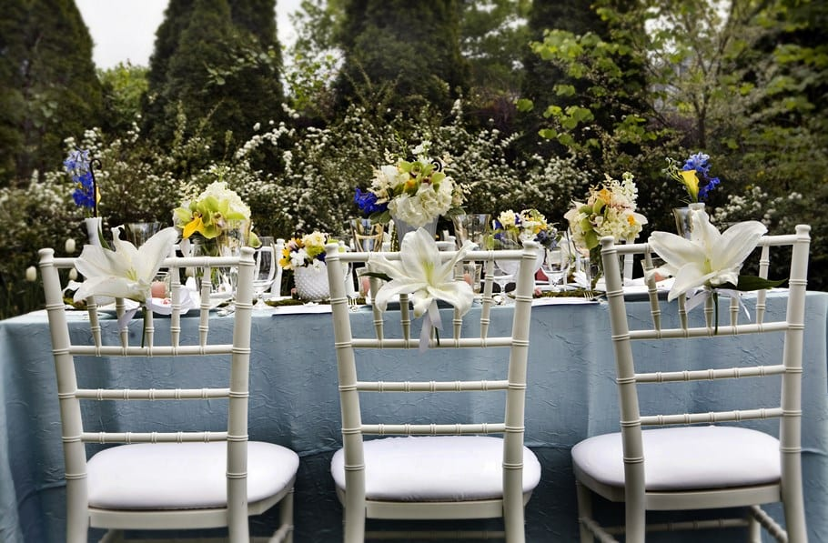 Sillas y mesas de boda, las últimas tendencias
