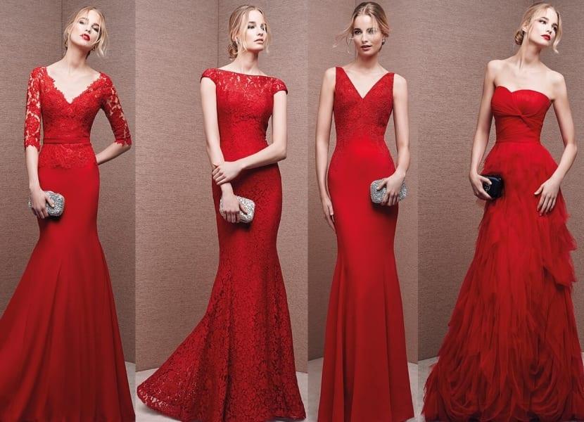 Imagenes de vestidos para graduacion color rojo