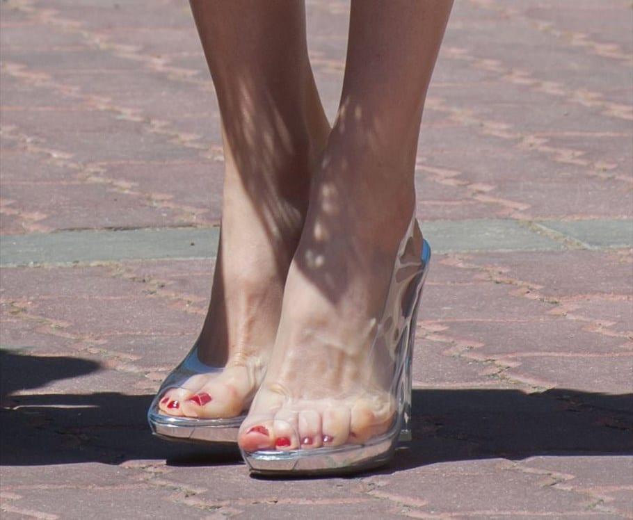 Zapatos transparentes Letizia Ortiz