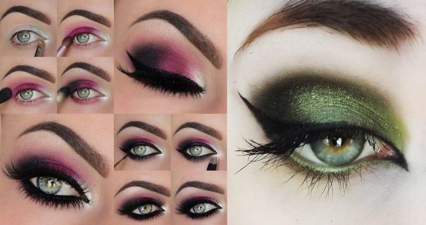 Maquillaje para ojos verdes ideas para las fiestas for Sombras de ojos para ojos marrones
