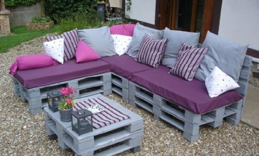 palets - sofá