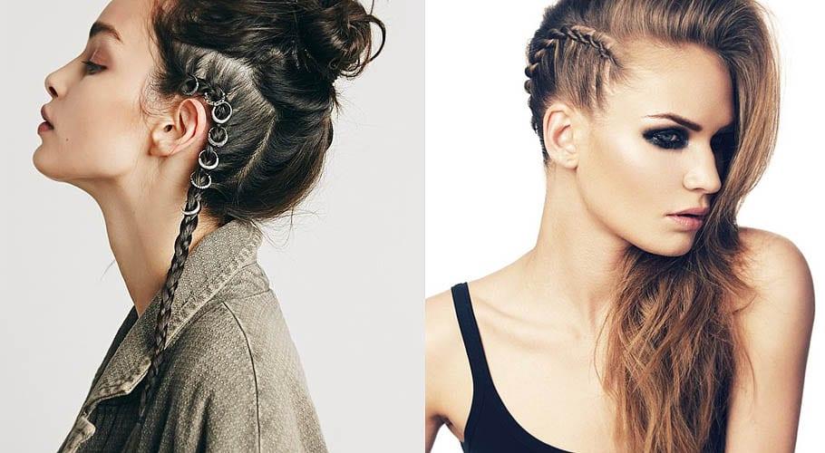 6 Peinados Con Trenzas De Inspiracion Punk - Peinados-con-tranzas