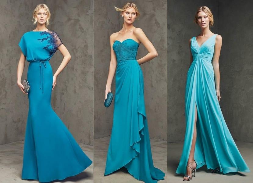 Vestidos azul Scuba