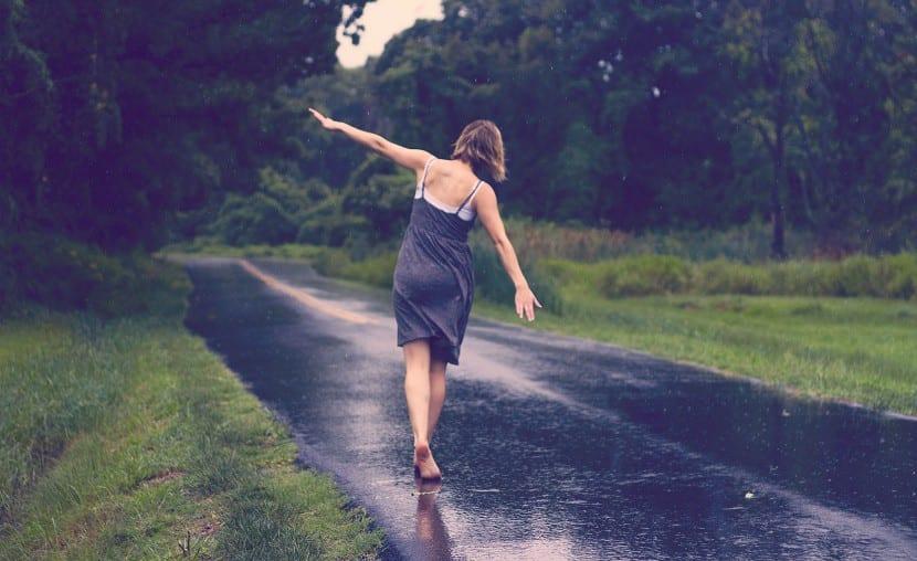 bajo la lluvia sensaciones
