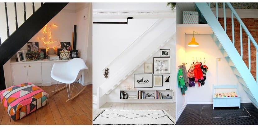 Ideas creativas para aprovechar el espacio de debajo de la for Barra bajo escalera
