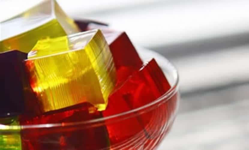 Postre con gelatina