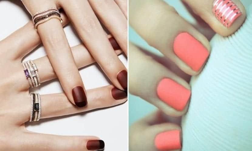 Combinar esmaltes en la manicura
