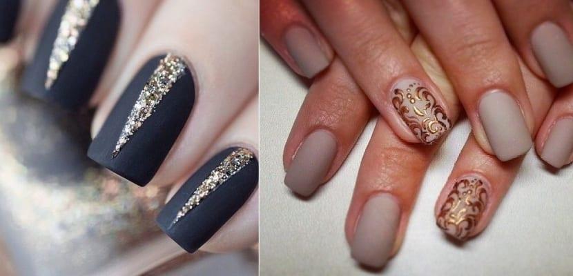Diseños con brillos en la manicura