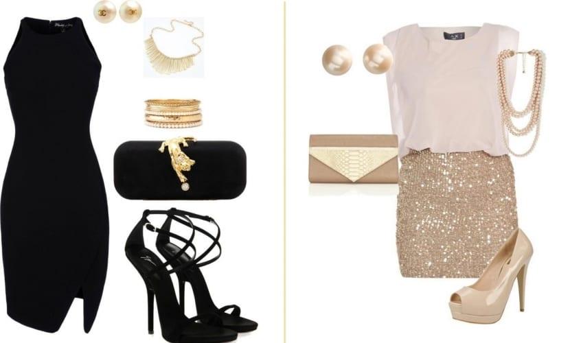 Vestido y falda para fiesta