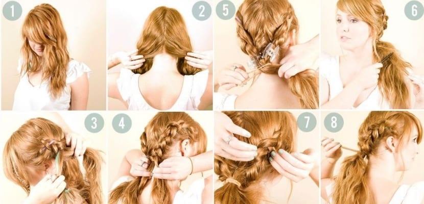 Dos trenzas para un mismo peinado