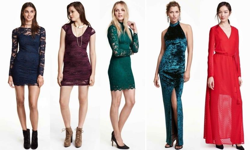 Vestidos de fiesta en colores