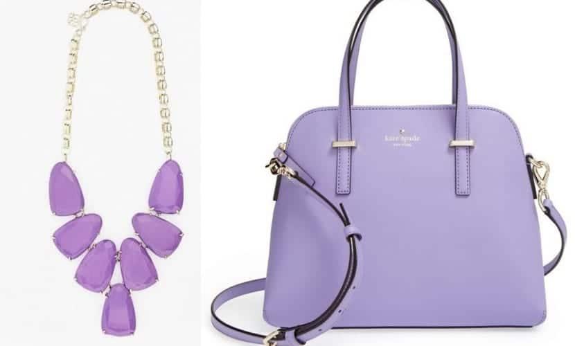Complementos en color lila