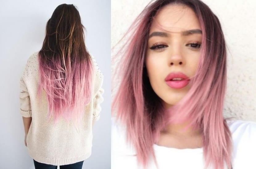 imagenes de cabello pintado solo las puntas