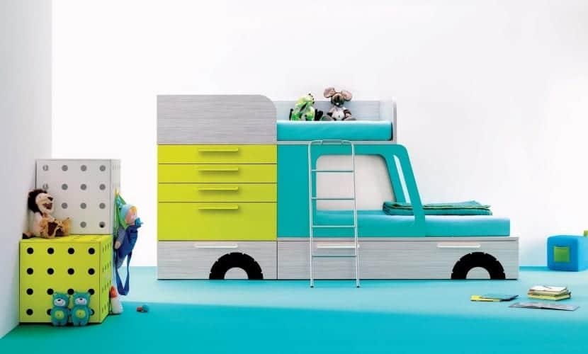 Camión de los helados como cama infantil
