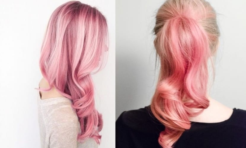 Distintos tintes en rosa