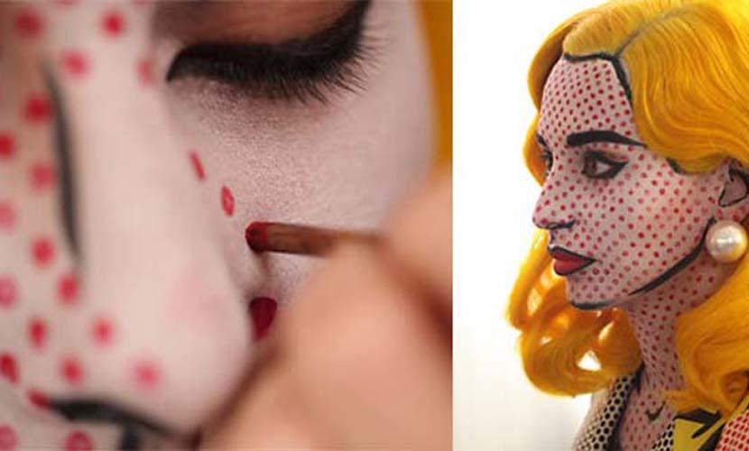 Maquillaje original de Carnaval comic