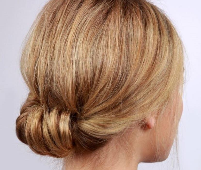 Peinado enroscado