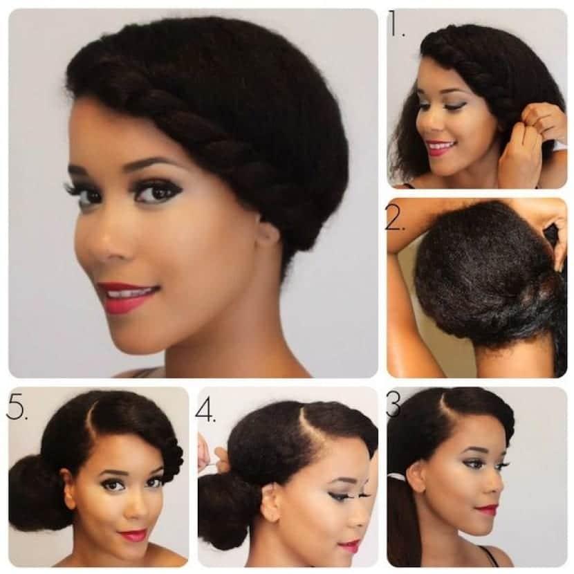 Peinados de cabello recogido de moda