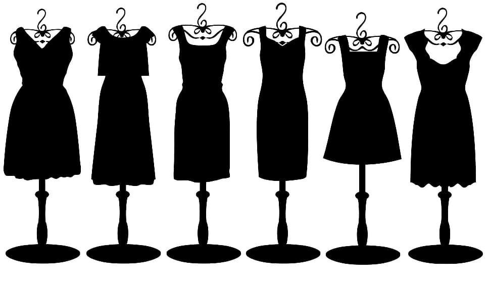Como combinar un vestido negro con zapatos