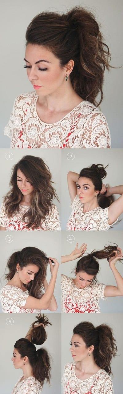 Peinados sencillos - Doble cola