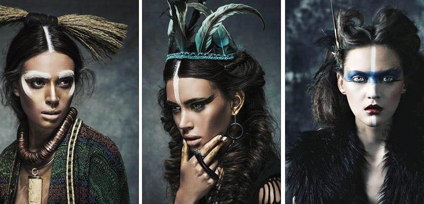 Maquillaje étnico para Carnaval